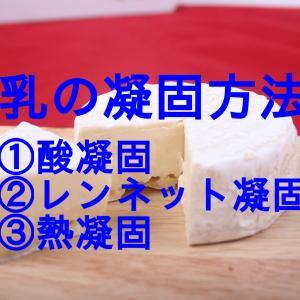 チーズプロフェッショナル試験対策13 チーズ製造第1段階②乳の凝固方法