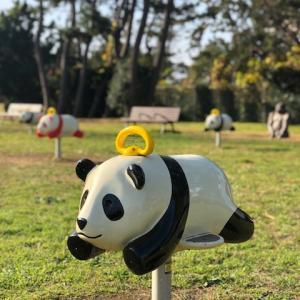 パンダの群れを探してたどり着いた公園には東京で最大級のタコ滑り台があった