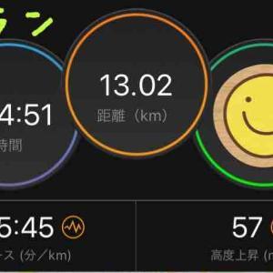 4月2日 朝ラン8km&夜ラン13km&家トレ20分