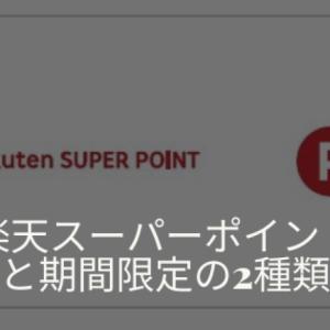 楽天スーパーポイントは2種類ある!通常ポイントと期間限定ポイントの違いを解説