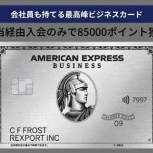 アメックスビジネスプラチナ紹介入会キャンペーン 85000ポイント獲得可能