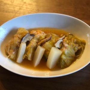 スープ上等の豚キムロールキャベツ