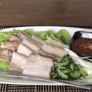 あぐー豚のポッサムと島野菜