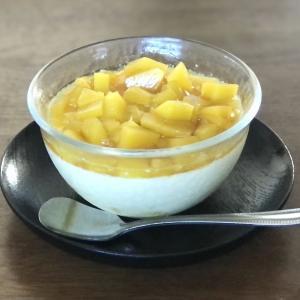 健康おやつに【酢マンゴーの牛乳寒天よせ】