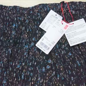 【ユニクロ】購入品♪ツイストプリーツロングスカートが可愛い