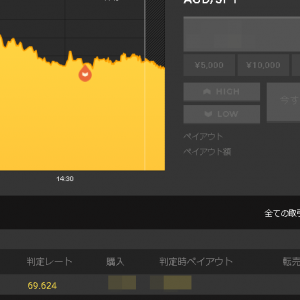 4/29のバイナリーオプション結果♪