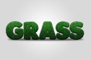 【Photoshop】文字を草の形にする方法(グラステキストを作成)