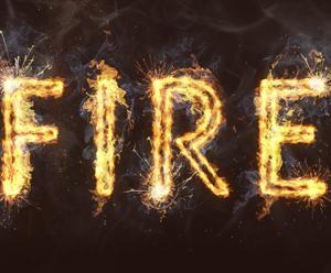 【Photoshop】文字をリアルな炎の形にする炎テキスト