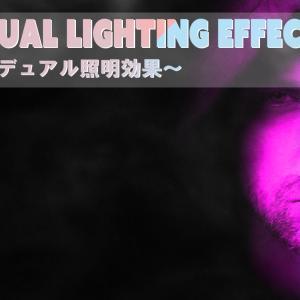 【Photoshop】Dual Lighting Effect/デュアル照明効果でクールな印象にする