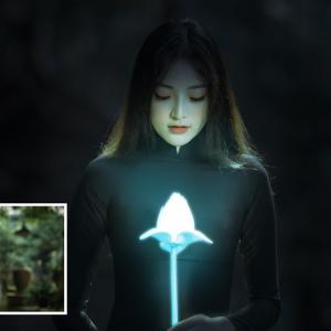 【Photoshop】花を光らせる。発光させ輝かせる方法