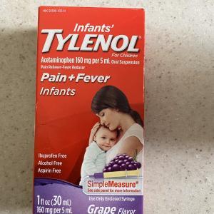 【アメリカの子供用市販薬】赤ちゃんでも使える熱冷まし、タイレノール