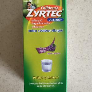 【アメリカの子供の市販薬】蕁麻疹に効く!Zyrtec