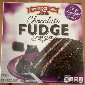 ついに見つけた!ペパリッジファームの冷凍チョコケーキ、Fudge Layer Cake!