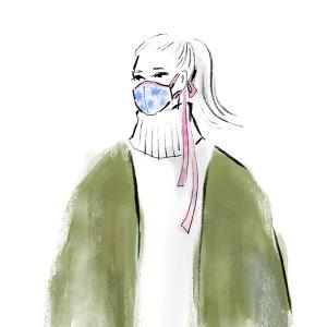マスクファッションのイラスト