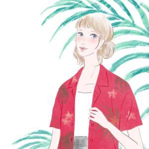 今年の夏は赤いアロハを着て出かけるって決めている