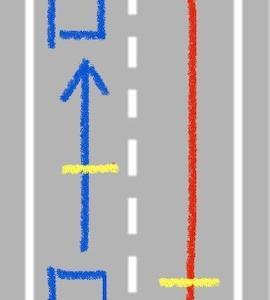 大型車前方の車間距離、割り込むのは危険です!