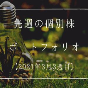 先週の個別株ポートフォリオ【2021年3月3週目】