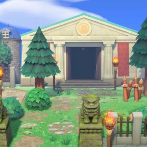 墓地の最奥にある神殿