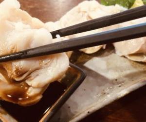 たことんび(タコの口)を刺身で!カラス処理済みで簡単に食べれるのが嬉しい。