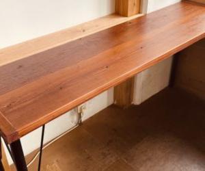 店舗のテーブルを手作り!板に鉄脚をつける方法は簡単だし安い!