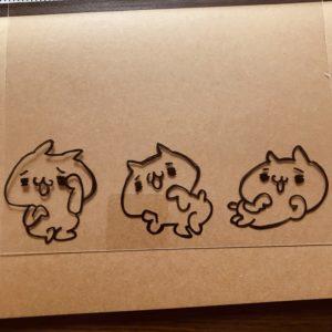 プラ板でにゃんくまを作る!