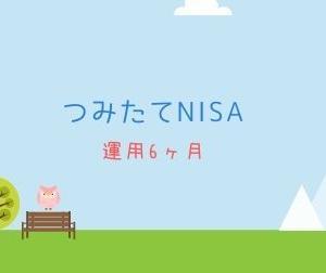 【つみたてNISA】運用6ヶ月。成績はふつうです。
