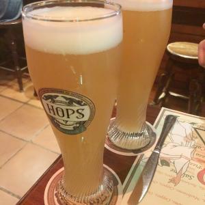 Hops Brew House(ホップス ブリュー ハウス)で美味しいクラフトビールとピザで洋食ディナー!