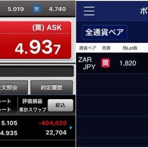 4層トラップ作動→年間スワップ195万円・利回り24.4%見込!! 高金利通貨運用実績@7w