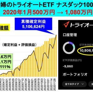 <認定ビルダー>2億り夫婦500→1,080万円:トライオートETF運用成績TQQQ @46週