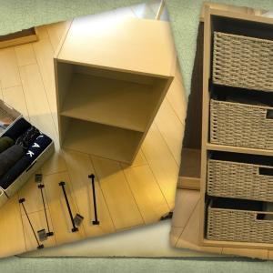【DIY】カラーボックスで子供服を収納!!取り出せる引き出しは便利っ!!