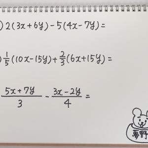 【中2数学】式の計算② 分数があっても怖くない!~問題編~