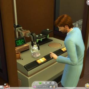 科学者イーサン※2 やることがいっぱいのラボ技術者
