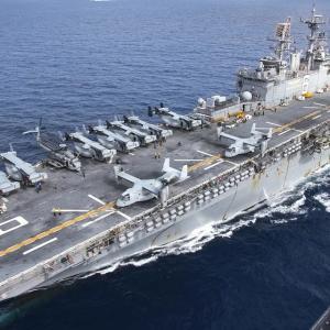 アメリカ海軍の船の火災で21人負傷(サンディエゴ)