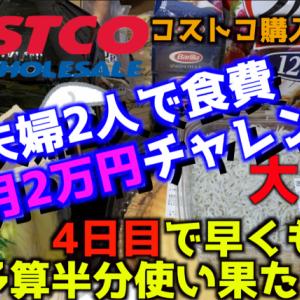 【コストコ購入品】夫婦で食費1ヶ月2万円企画中なのに買い過ぎた、、【食費節約】