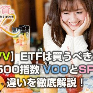 【IVV】ETFは買うべきか?S&P500指数 VOOとSPYとの違いを徹底解説!
