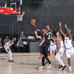 【NBA】全試合結果(2020.8.7) ~ダミアン・リラードがキャリアハイタイの3P 11本!45得点の活躍で勝利に導く!!~