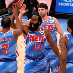 【NBA】全試合結果(2021.1.17)~ハーデンが32P 12R 14A、デュラントが42得点の活躍でネッツがハーデン移籍後の初試合を勝利で祝う!!~