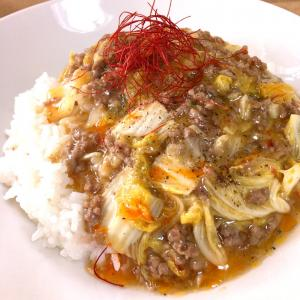 【ピリ辛】挽肉と白菜のあんかけ丼