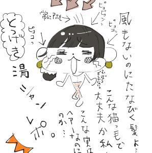 初挑戦☆猫っ毛ロングヘアーによる湯シャンプー&黒酢シャンプーのレポート。