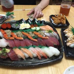 娘の誕生日を寿司で祝いました!ありがたき幸せ!皆様のおかげです。