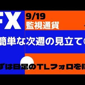FX 9/19 簡単な次週の見立て