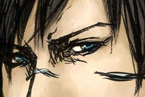 【イラスト】2009年③『RE:BORN』なGACKTさんを筆ペンで描く