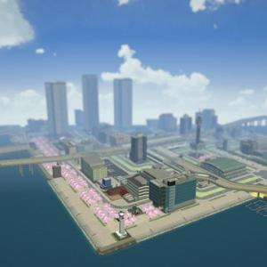 はじまるA列車だらだら開発 人工島のビル群と鉄道