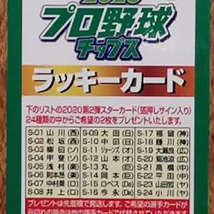 プロ野球チップス ラッキーカードが出た!