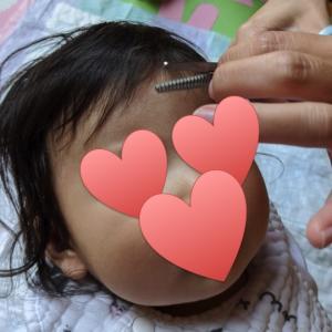 自宅で初めての赤ちゃんヘアカット!簡単すぎて拍子抜け。