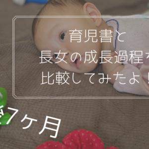 生後7ヶ月の長女の発育・発達を育児書や育児サイトと比較してみた