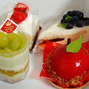 シャトレーゼの期間限定秋ケーキがおすすめ、「まんまるリンゴケーキ」と「シャインマスカットのカップデザート」を実食