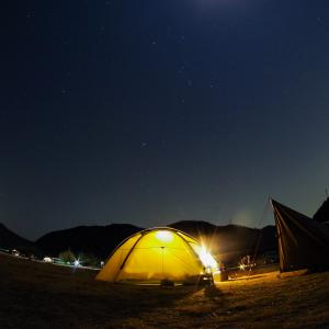 春一番が吹くと言われていた日のキャンプ@瀬戸吉井川緑地