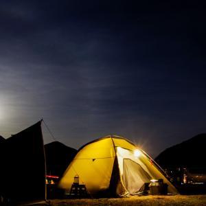 2月の満月スノームーンの下でキャンプ@瀬戸吉井川緑地