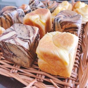 ミニキューブ型でオレンジシートとチョコシートの折込パン
